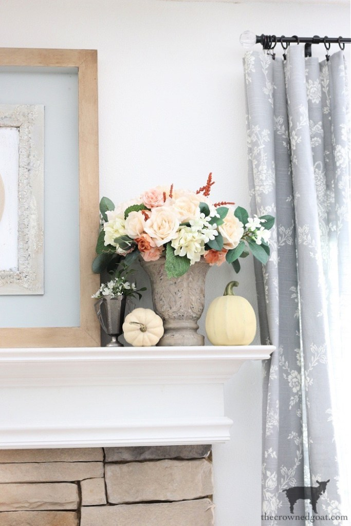Steps to Creating a Simple Fall Mantel-The Crowned Goat