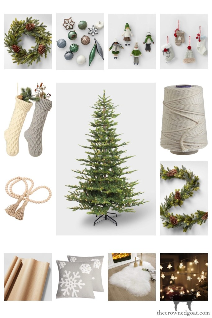 Scandi Inspired Christmas Tree Finds from Amazon and Target-The Crowned Goat