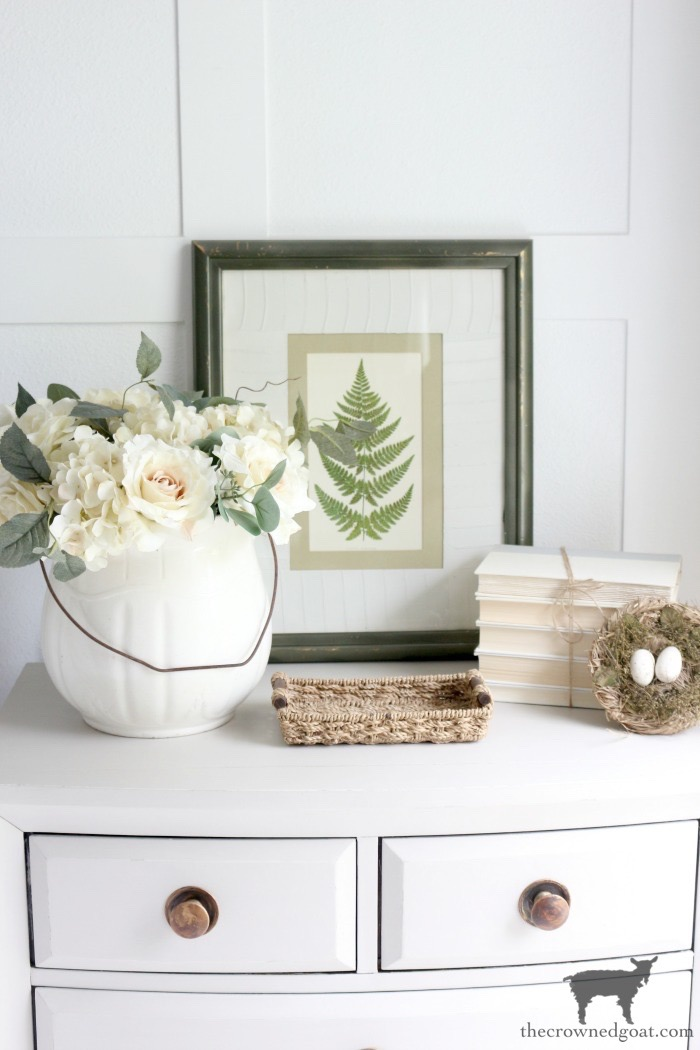 Simple Nightstand Makeover in Primitive