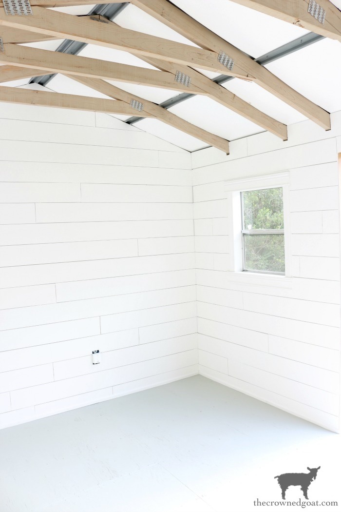 Painted Floor, Trusses, and a Shed Update