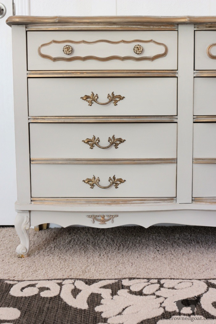 French Country Dresser Makeover in Primitive - The Crowned Goat