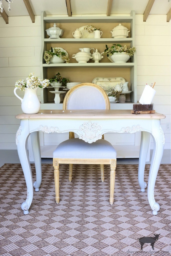 French Country Table Makeover-The Crowned Goat