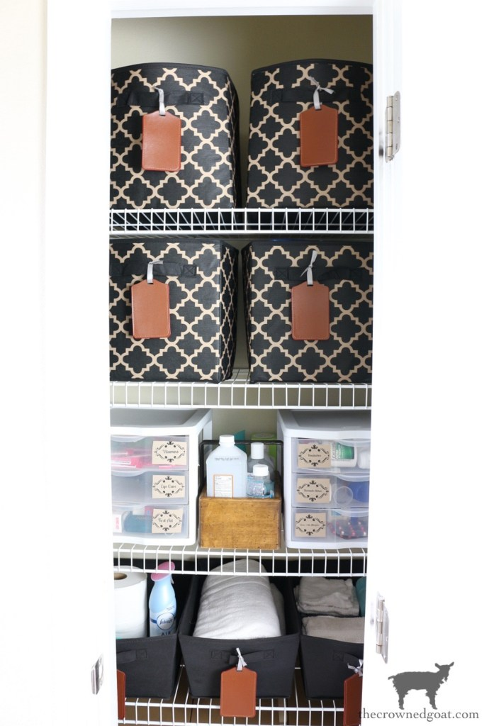 Budget Friendly Organization Ideas for a Small Linen Closet-The Crowned Goat