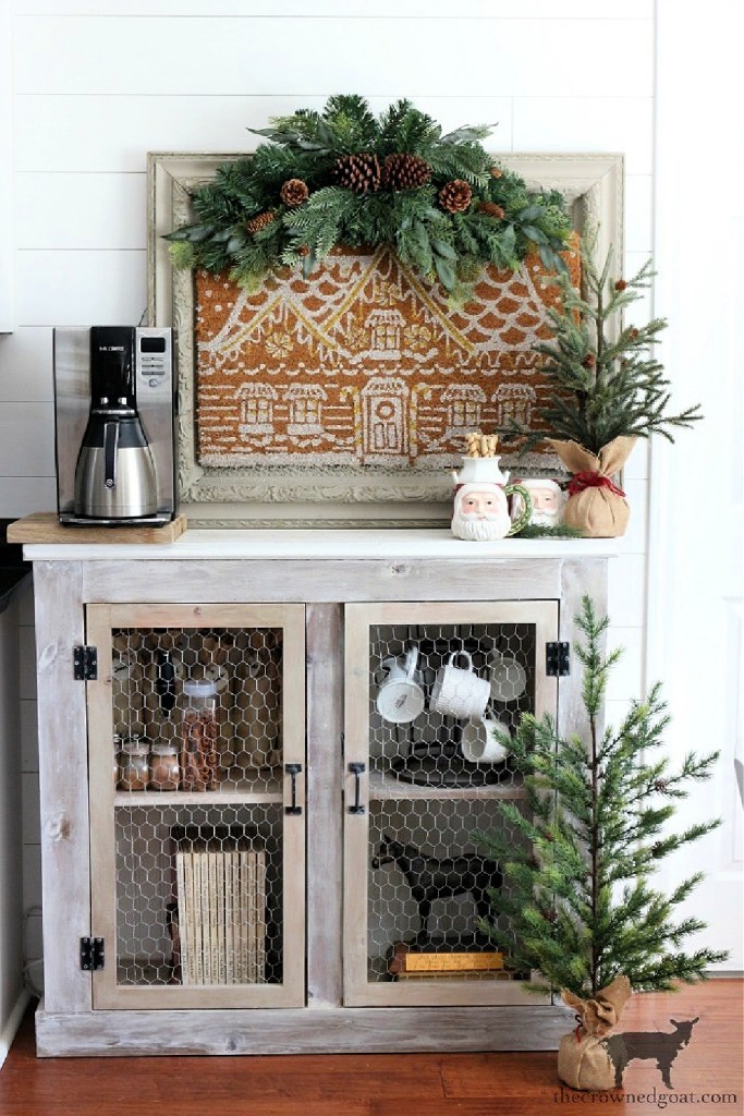 Decorating an Indoor Coffee Station for Christmas-The Crowned Goat