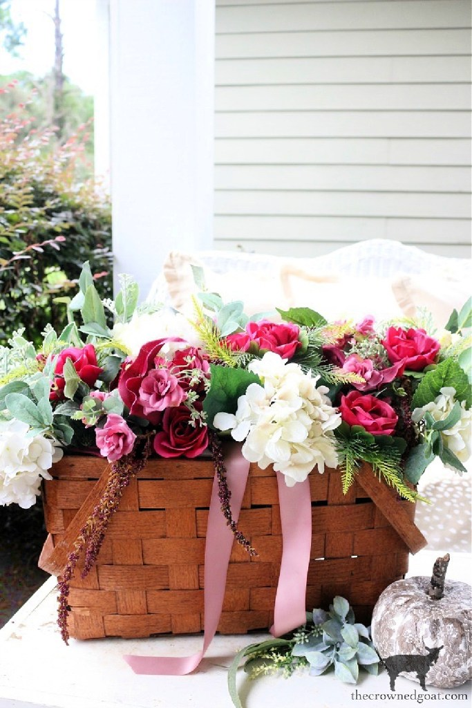 Summer to Fall Picnic Basket Centerpiece-The Crowned Goat