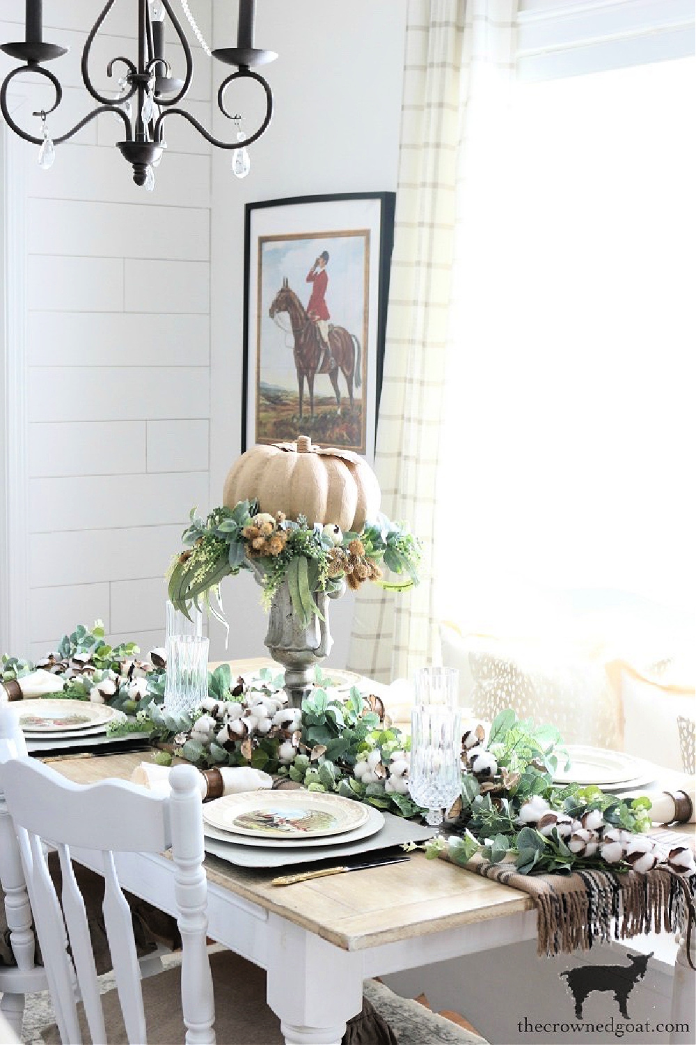 Easy Ways to Find Fall Inspiration-Equestrian Inspired Tablescape