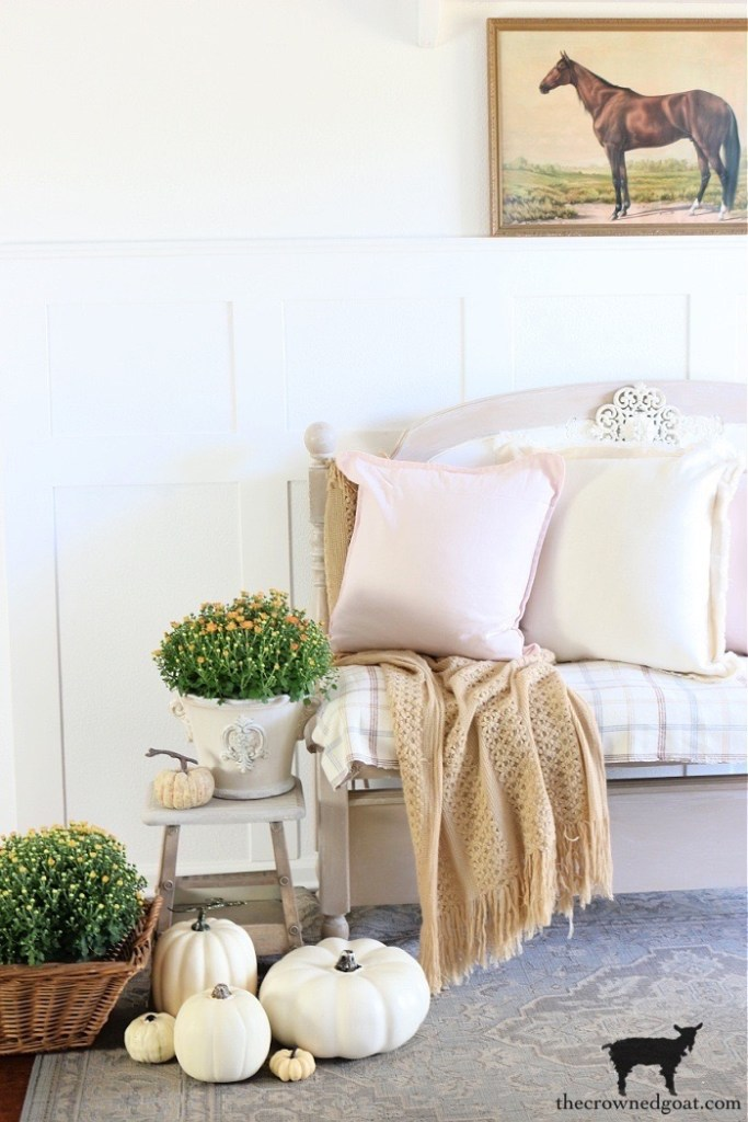 Fall Home Tour-Country House Fall Entry Ideas-The Crowned Goat