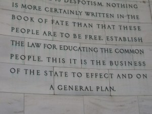 Jefferson's express of the need to educate the common people.