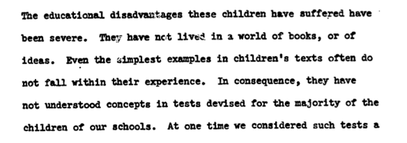 This assessment of the problem led their thoughts on standardized testing.