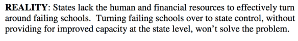 Quote from Gary Ratner about No Child Left Behind.....What will the Every Student Succeeds Act do, turn over responsibility to some irresponsible state leaders while funding CHOICE schools from the federal level.