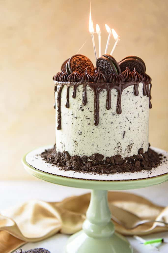 Mint Oreo Cookies And Cream Cake The Crumby Kitchen