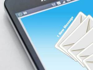 Example mobile phone email screen image
