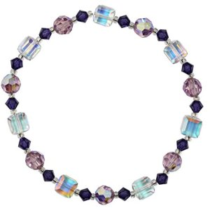 swarovski crystal ab purple shades bracelet