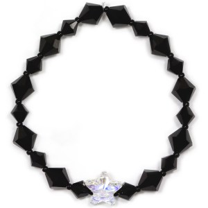 swarovski crystal ab star and jet black bicone bracelet