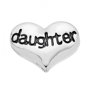 daughter silver heart memory locket charm