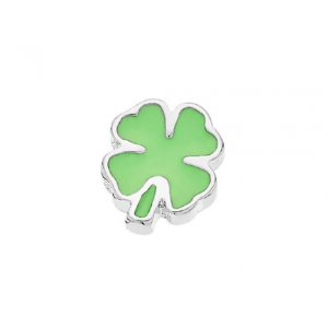 four leaf clover lucky memory locket charm
