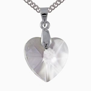 swarovski crystal clear 18mm heart pendant
