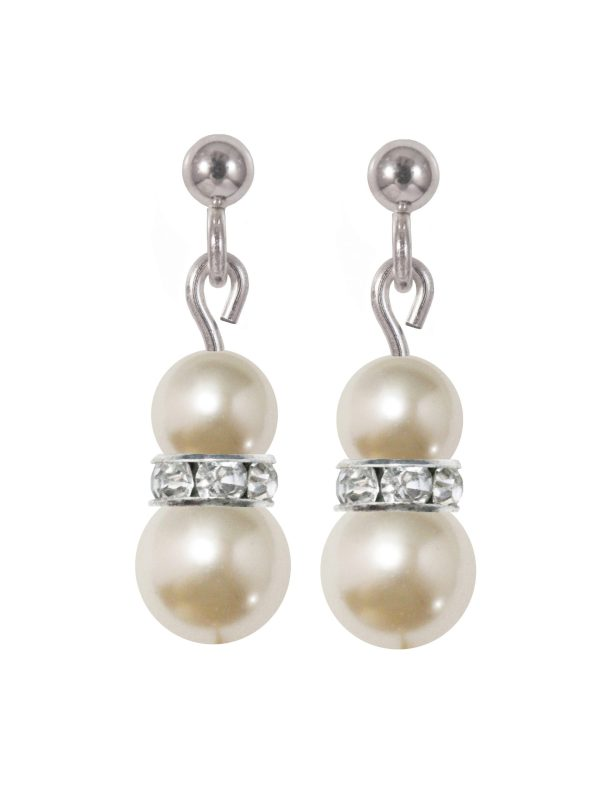 swarovski crystal cream pearl and sparkle earrings