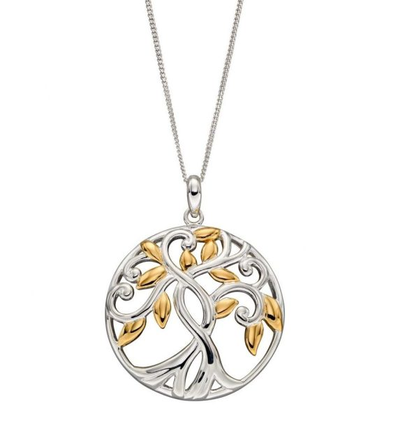 sterling silver and gold tree of life pendant
