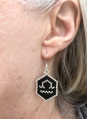 libra zodiac star sign miyuki earrings worn