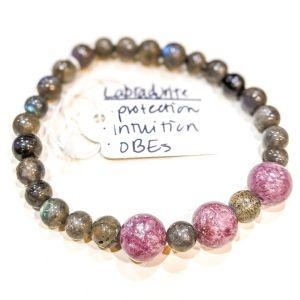 Labradorite + Lepidolite Bracelet