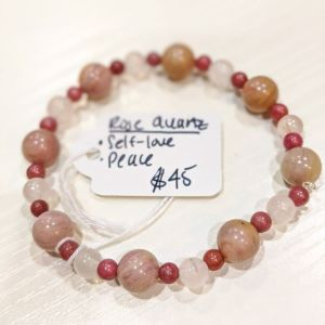 Rose Quartz + Rhodonite Bracelet