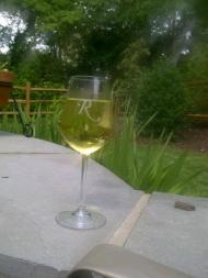 On a lovely day there is nothing like a glass of chardonnay out on the patio before dinner....