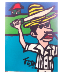 Title: El Guajiro Dimensions: 40 X 30 Acrylic on Canvas