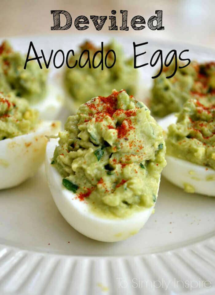 Deviled Avocado Eggs-easter side dishes recipes-easter side dishes vegetables-easter side dishes make ahead-easter side dishes recipes veggies-easter side dishes recipes simple