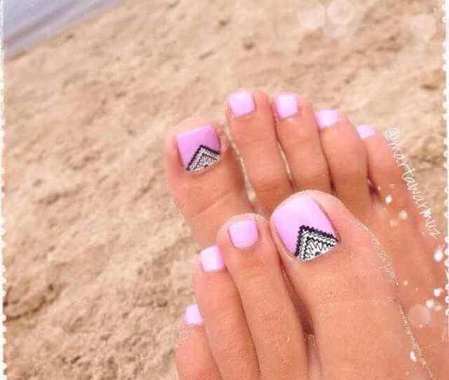 Cute Summer Toe Nail Art And Design Ideas For