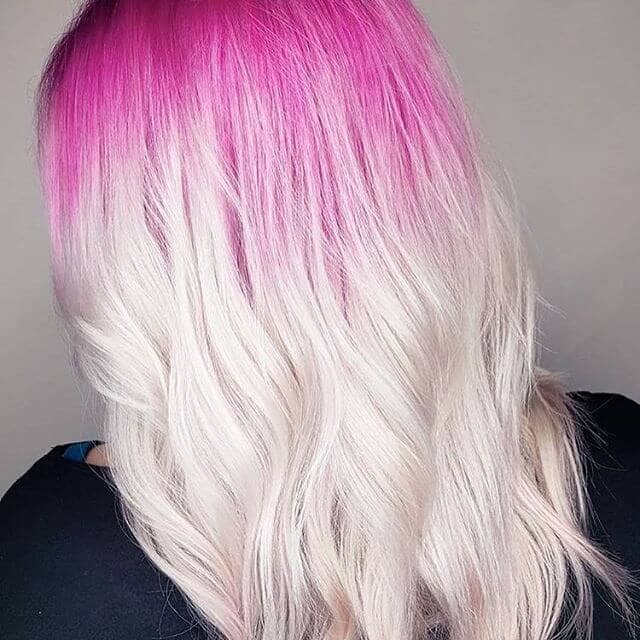 Popping Pink and White Blonde Ombre
