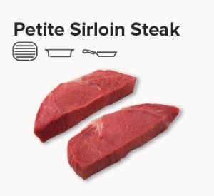 petite sirloin steak