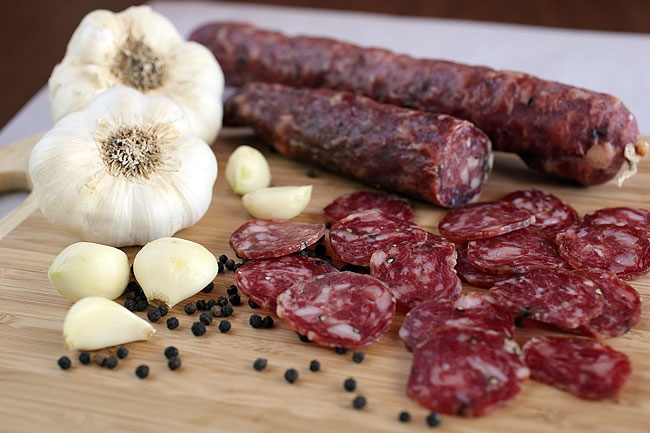 dried homemade sausage