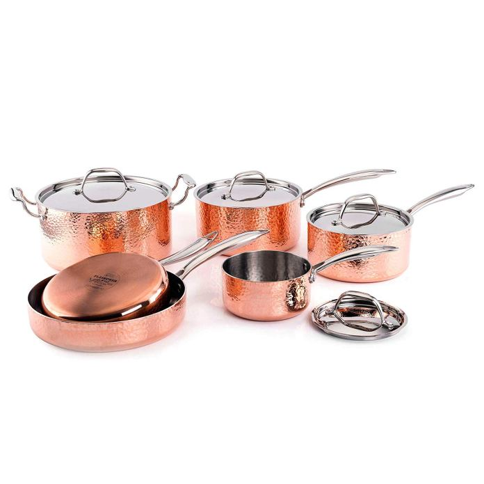 fleischer & wolf cookware set copper