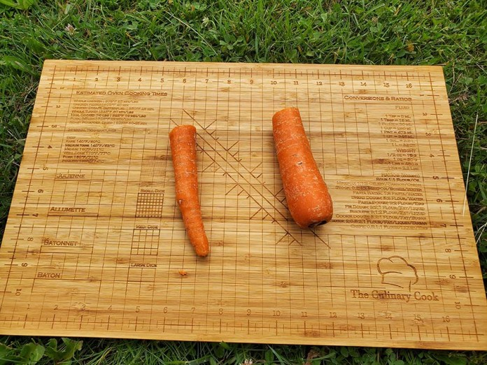 squared carrot cut