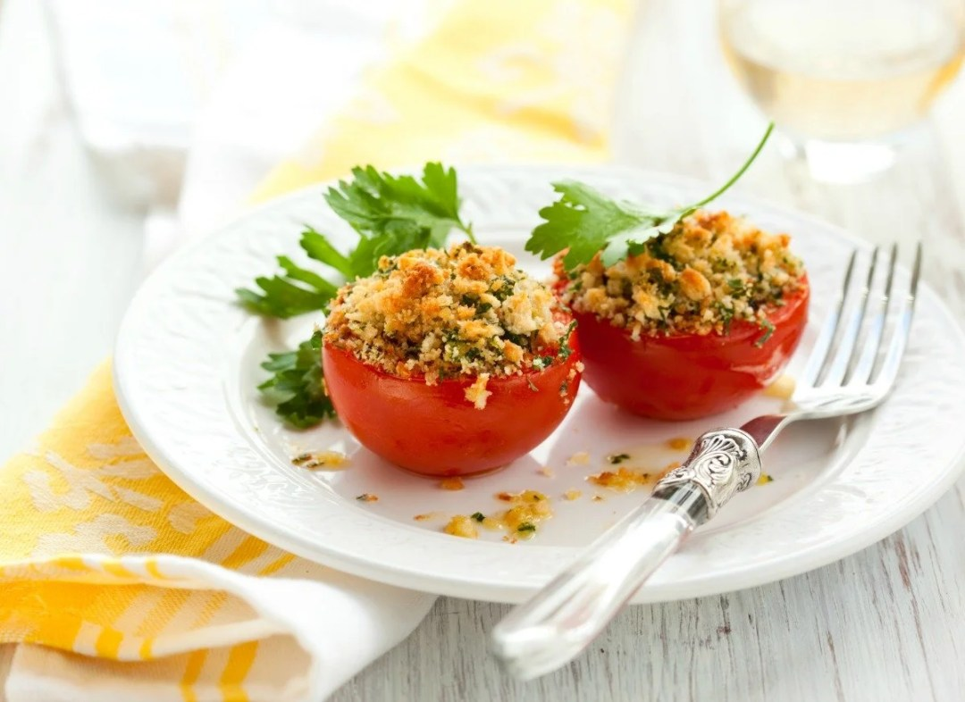 Julia Child's Recipe for provencal style baked tomatoes