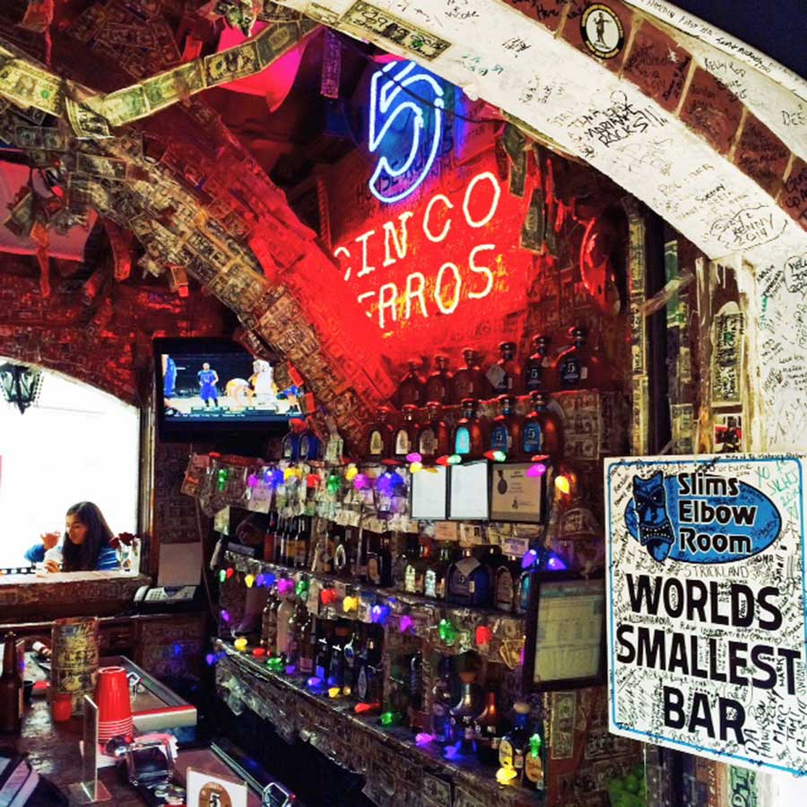 Slim's Elbow Room (The World's Smallest Bar), Cabo San Lucas