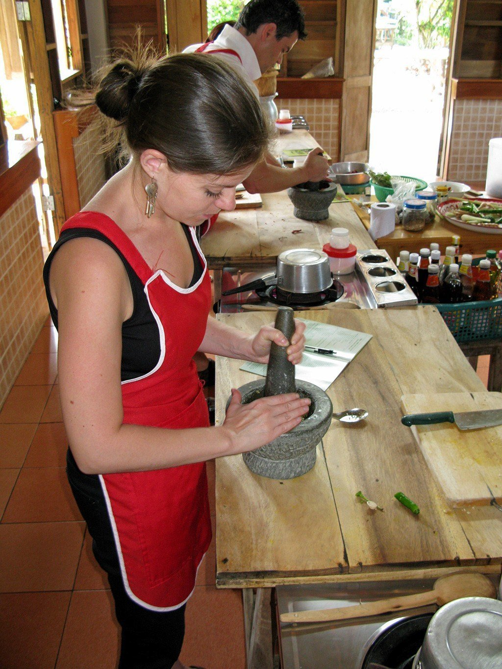 Jodi Ettenberg at a Cooking School in Chiang Mai