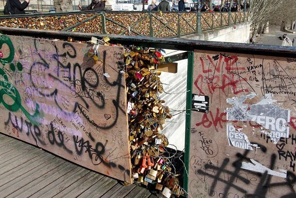 Pont des Arts Bridge, Paris, photo by Michael Saint James