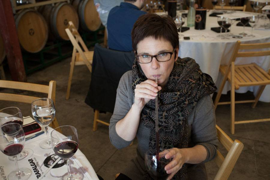 Andie Fisher Blending Wine in Sonoma   TheCulinaryTravelGuide.com