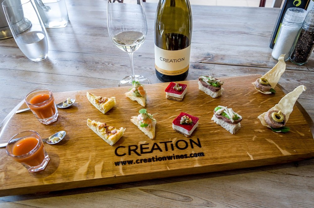 Food Pairing at South Africa Creations Winery (photo by TravelAddicts Lance & Laura Longwell)