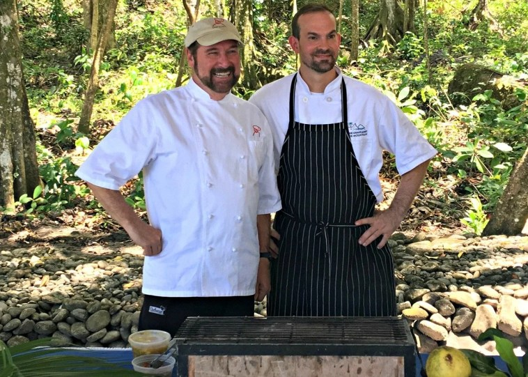 Chef Allan Susser and Chef Juan at the jungle grill