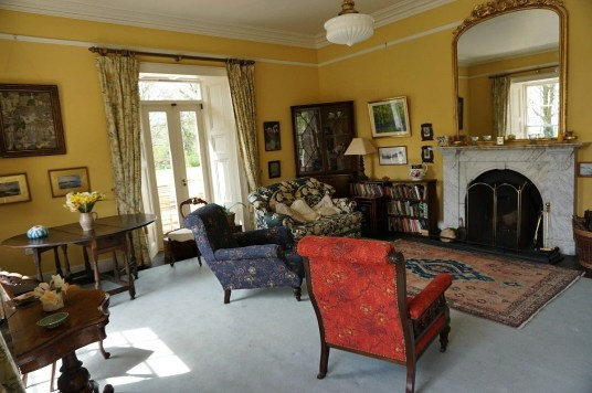 Drawing room where cooking classes are held in Ireland