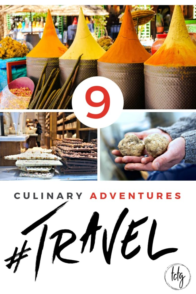 Pinterest Pin for 9 Culinary adventures