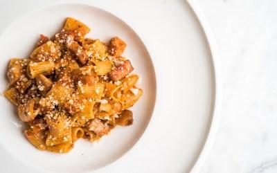 Rigatoni All'Amatriciana Recipe from Cal Mare Restaurant