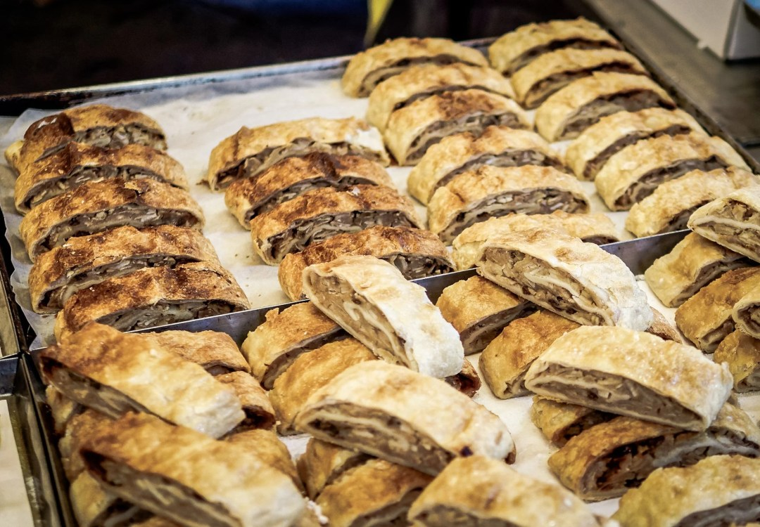 Variety of strudel at the Vienna Christmas Markets