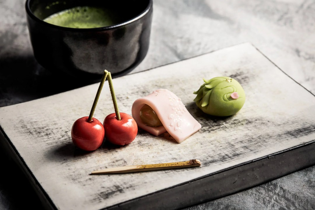 Japanese confectionery available at the Shangri-La Hotel during Tokyo Cherry Blossom Season