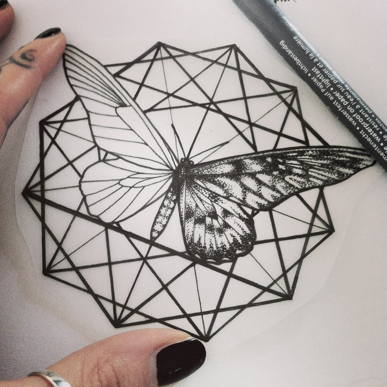 Hannah Pixie Snowdon - Geometrical Tattoo Artwork
