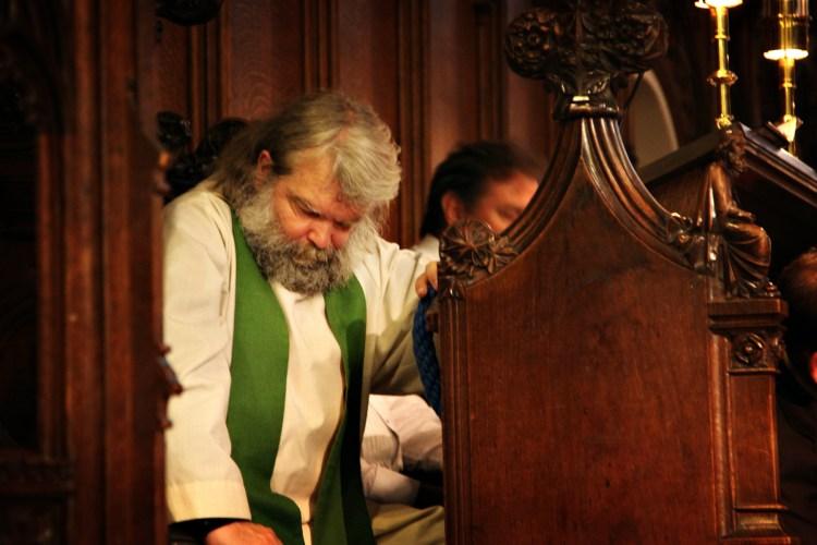 Malcolm Guite in contemplation - Cambridge 2011 - Image (c) Lancia E. Smith