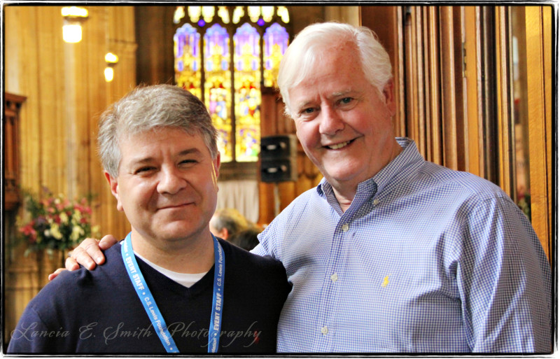 Kevin Belmonte and Os Guinness in Oxford - image copyright Lancia E. Smith and the C.S. Lewis Foundation, 2011